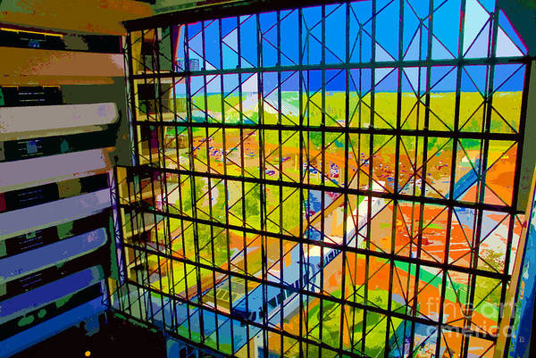 Mono Painting - Contemporary Window by David Lee Thompson