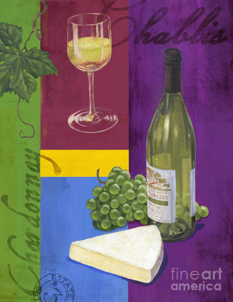 Wall Art - Painting - Contemporary Wine Collage II by Paul Brent