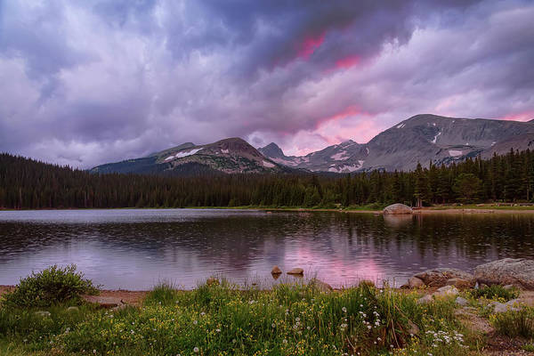 Photograph - Continental Divide Stormy Rainy Sunset Sky by James BO Insogna