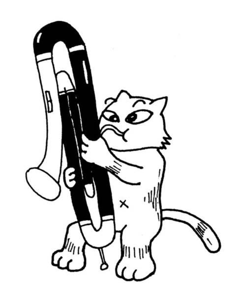 Drawing - Contra Bassoon Fox by Minami Daminami