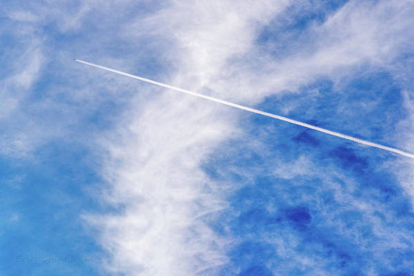 Photograph - Contrail by Erich Grant