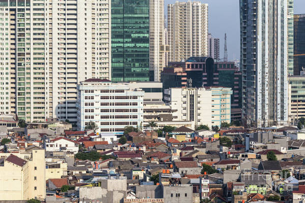 Photograph - Contrast In Residential District In Jakarta, Indonesia Capital C by Didier Marti