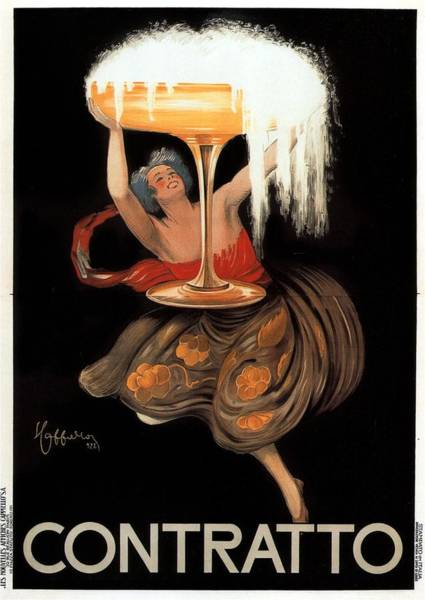Beer Mixed Media - Contratto - Vintage Liquor Advertising Poster by Studio Grafiikka