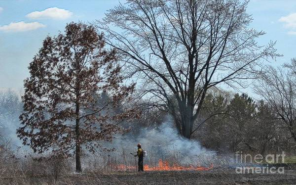 Photograph - Controlled Burn by Kathie Chicoine
