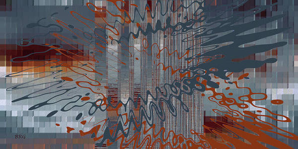 Wall Art - Digital Art - Controlled Chaos Blue by Ben and Raisa Gertsberg