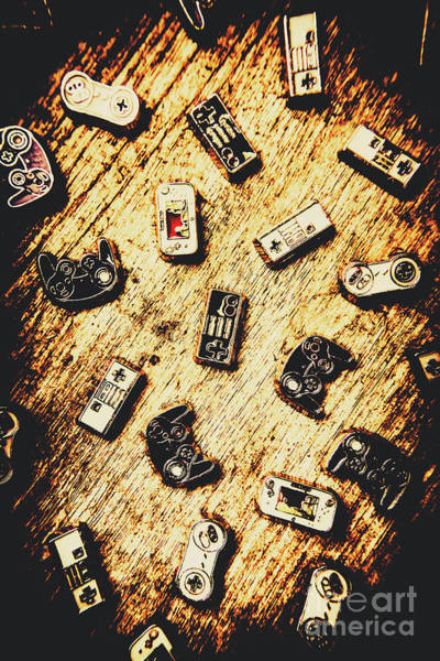 Remote Photograph - Controllers Of Retro Gaming by Jorgo Photography - Wall Art Gallery