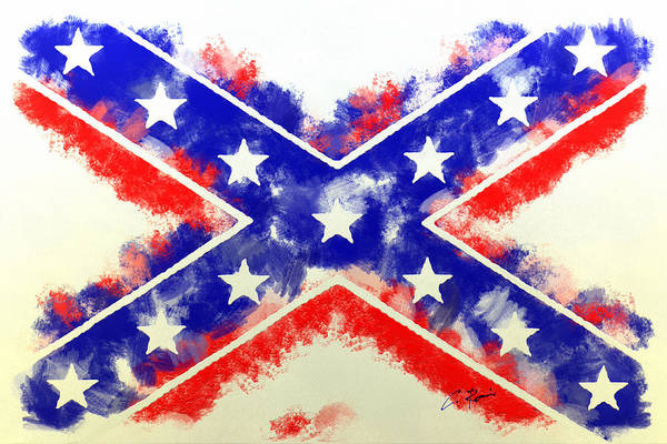 Digital Art - Controversial Flag by Charlie Roman
