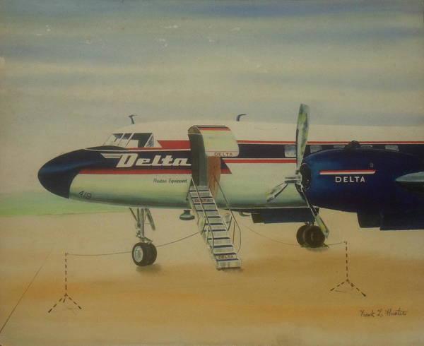 Painting - Convair 440 At Columbus by Frank Hunter
