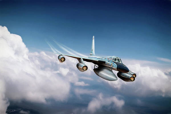 Wall Art - Digital Art - Convair B-58 Hustler by Peter Chilelli
