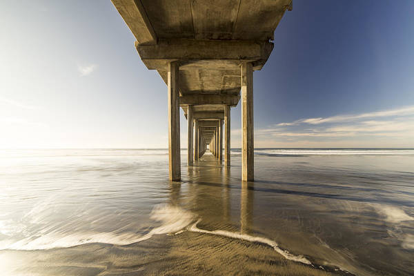 Scripps Pier Photograph - Convergence by Peter Irwindale
