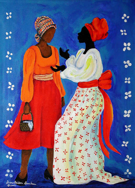 Wall Art - Painting - Conversation by Diane Britton Dunham
