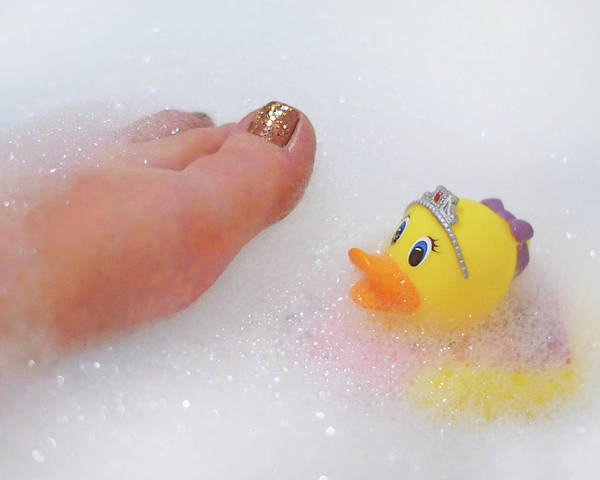 Rubber Ducky Photograph - Conversation With A Duck by Nikolyn McDonald