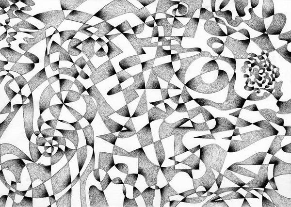 Abstract Expressionist Drawing - Conversations With The Mind by Hakon Soreide