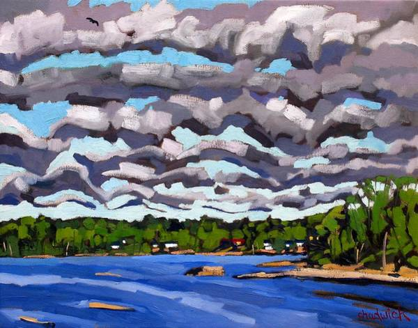 Stratocumulus Painting - Conveyor Waves by Phil Chadwick