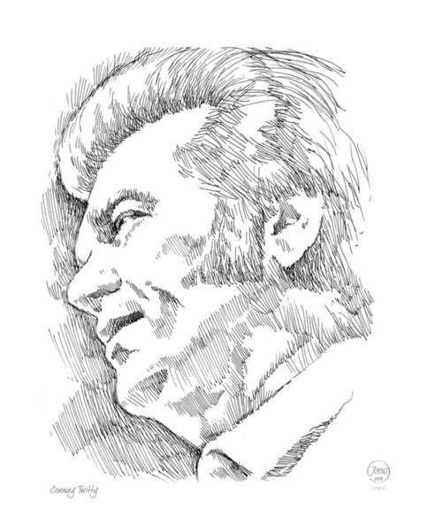 Wall Art - Drawing - Conway Twitty by Greg Joens