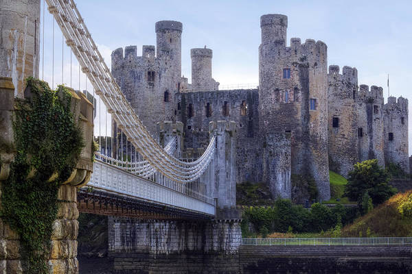North Wales Wall Art - Photograph - Conwy Castle - Wales by Joana Kruse