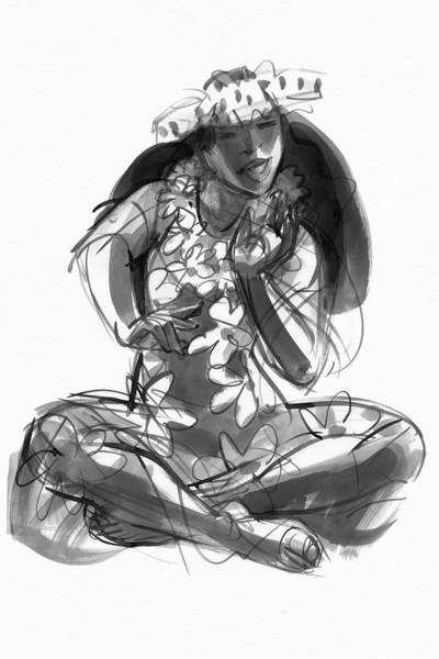 Painting - Cook Islands Ute Dancer by Judith Kunzle