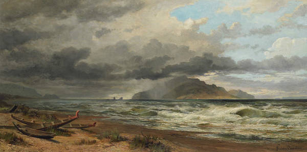 Painting - Cook Strait, New Zealand by Nicholas Chevalier