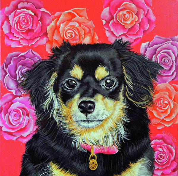 Wall Art - Painting - Cookie by Elizabeth Elequin