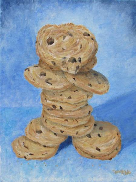 Painting - Cookie Monster by Nancy Nale