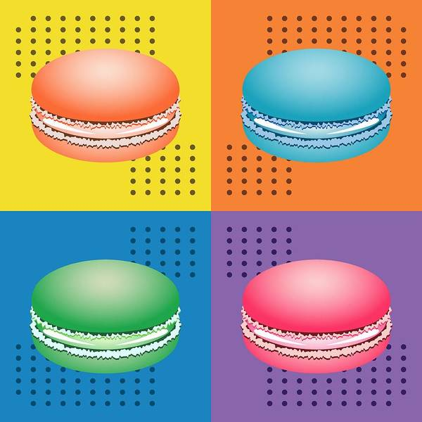 Digital Art - Cookie Squares Pop Art by MM Anderson
