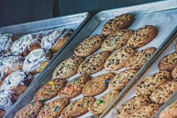 Cinnamon Buns Photograph - Cookies And Buns by Black Brook Photography