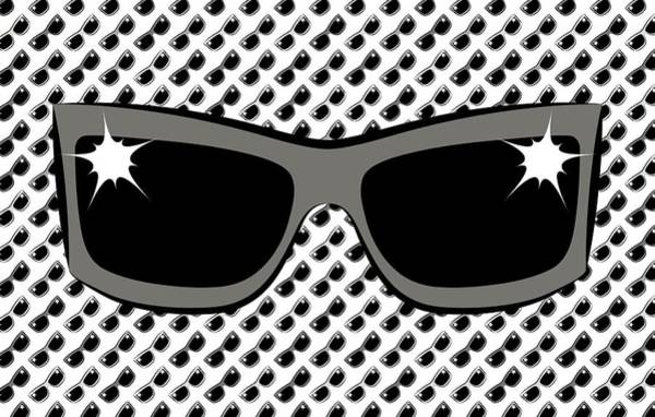 Digital Art - Cool 90's Sunglasses Grays by MM Anderson