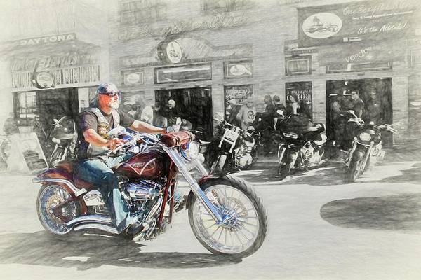 Daytona Bike Week Wall Art - Photograph - Cool by Alice Gipson
