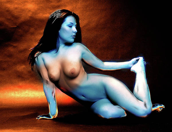 Photograph - Cool Blue Nude by Harry Spitz
