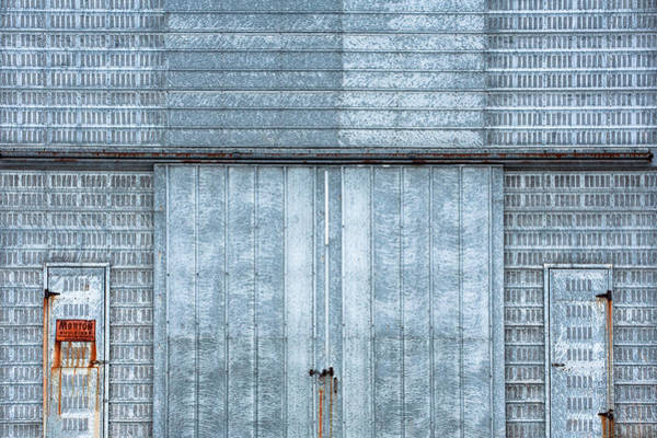 Vent Photograph - Cool Blue Steel Building by Todd Klassy