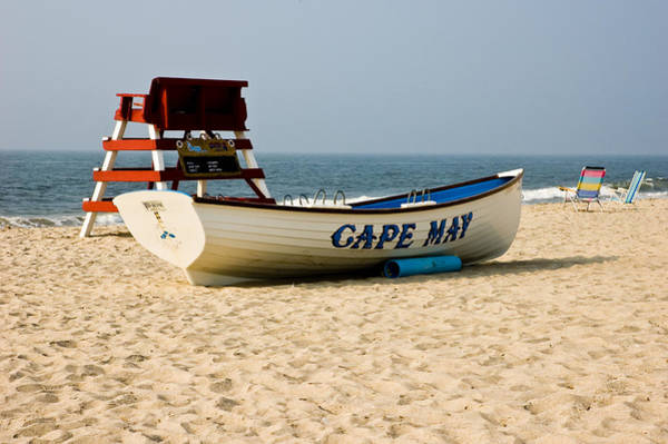 Life Guard Photograph - Cool Cape May Beach by Louis Dallara