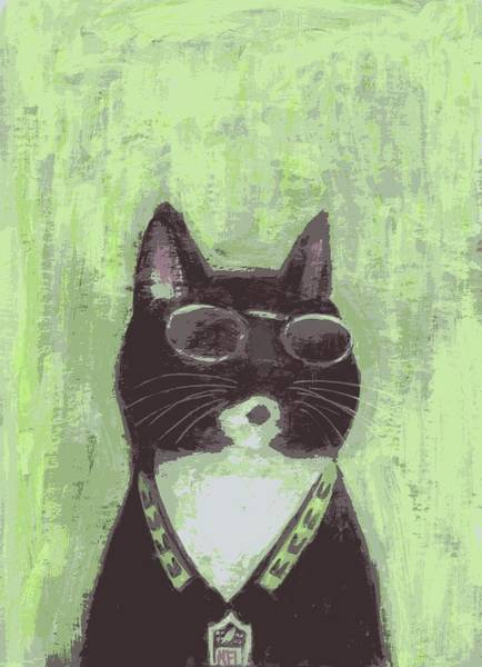 Painting - Cool Cat #2 by Kazumi Whitemoon