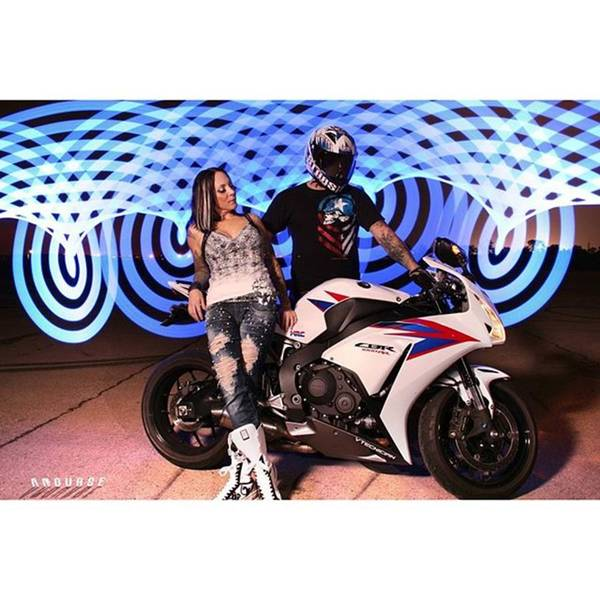 Wall Art - Photograph - Cool Cbr Couple #anourse #pixelstick by Andrew Nourse