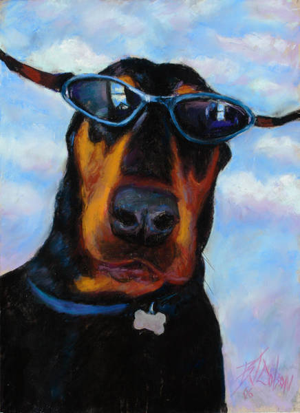 Doberman Wall Art - Painting - Cool Dob by Billie Colson