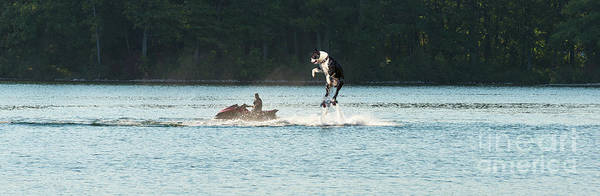 Digital Art - Cool Dog On A Water Jet Pack by Les Palenik