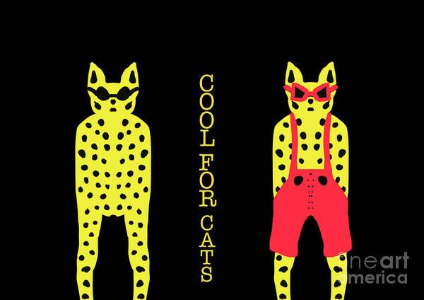 Digital Art - Cool For Cats by Barefoot Bodeez Art