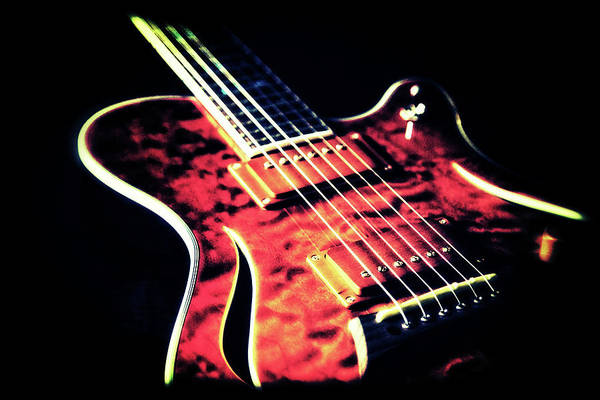 Artful Photograph - Cool Guitar by Karol Livote