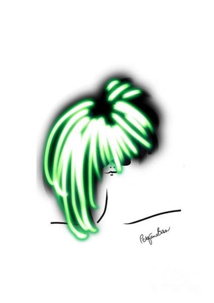 Hairdo Digital Art - Cool In Green  by Peta Brown