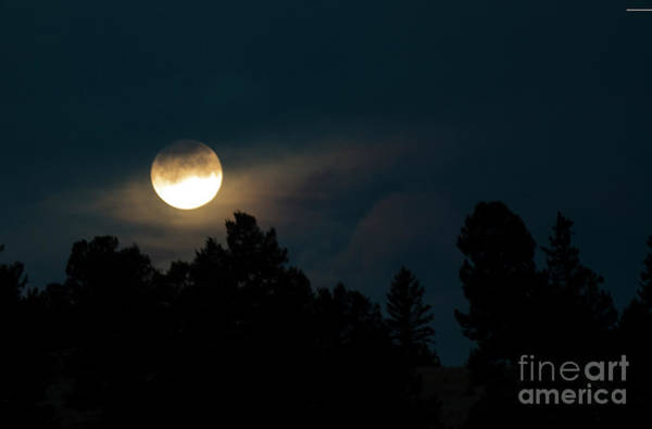 Photograph - Cool Mountain Moonset by Steve Krull