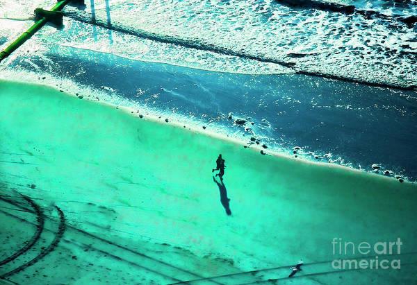 Wall Art - Photograph - Cool Tone Running Atlantic Seacoast Nj  by Chuck Kuhn