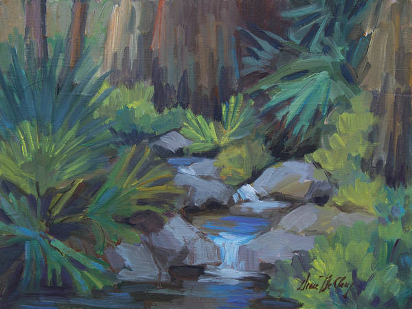 Wall Art - Painting - Cool Waters At Andreas Canyon by Diane McClary