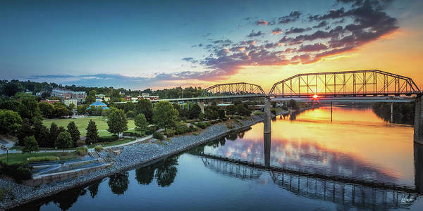 Photograph - Coolidge Park Sunrise Panoramic by Steven Llorca