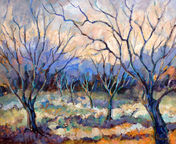 Persimmon Painting - Coonan's Persimmon Orchard by Jean Groberg