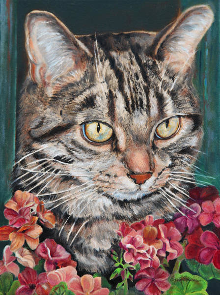 Wall Art - Painting - Cooper The Cat by Portraits By NC