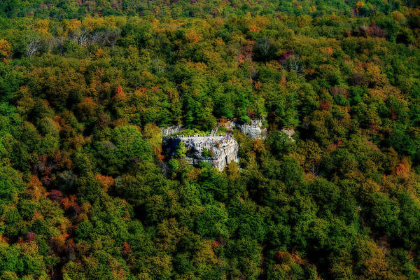 Photograph - Coopers Rock Aerial In The Fall by Dan Friend