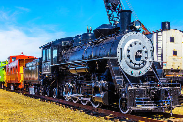 Caboose Wall Art - Photograph - Coos Bay Lumber Company Train 104 by Garry Gay