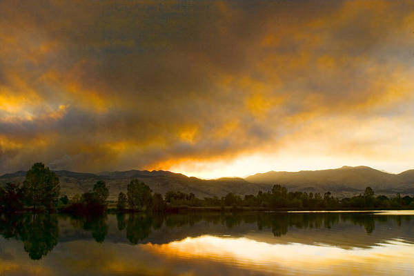 Photograph - Coot  Lake Sunset Boulder County Colorado by James BO Insogna