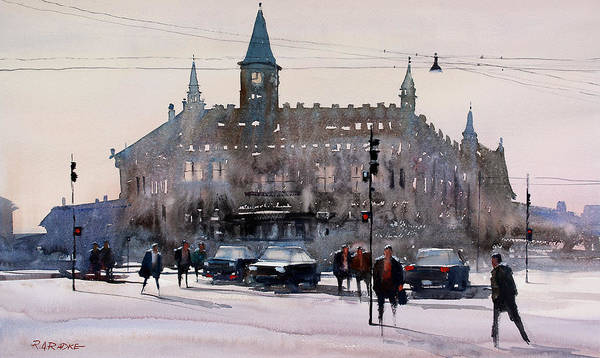 City Scene Painting - Copenhagen Denmark by Ryan Radke