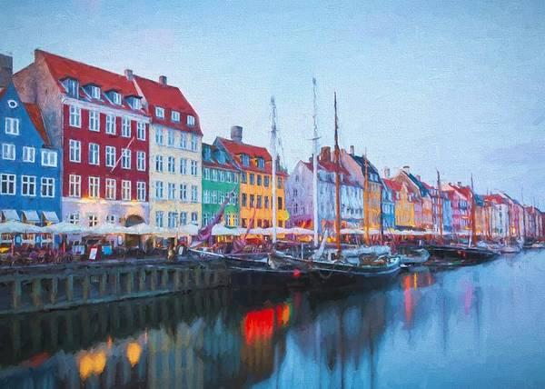 Digital Art - Copenhagen Harbour by Charmaine Zoe