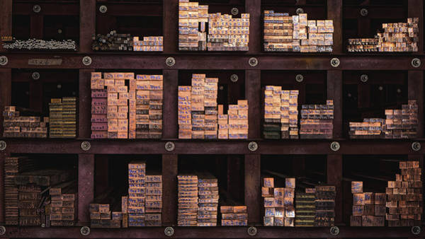 Photograph - Copper Bar Stock, Singapore 2014 by Chris Honeyman